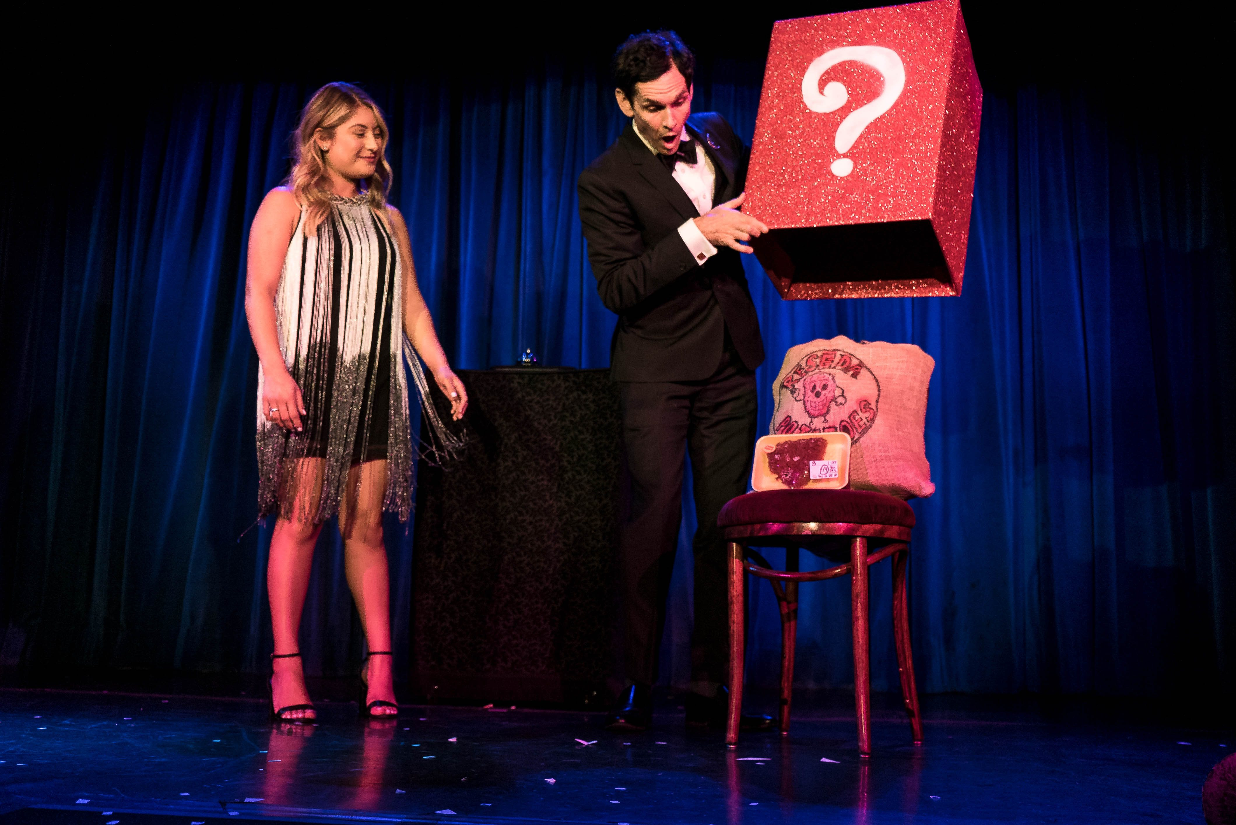 magician on stage